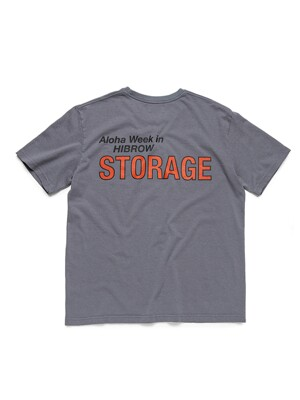 [HIBROWxBIGWAVE] STORAGE TEE (ASH GREY)