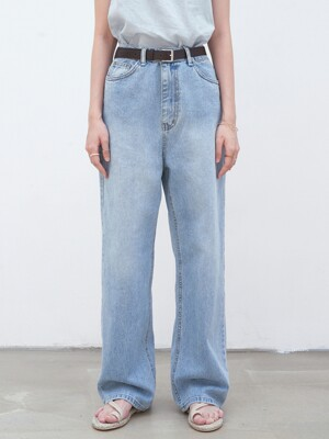 WIDE STRAIGHT DENIM PANTS