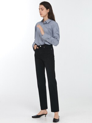 ESSENTIAL STRAIGHT JEANS BLACK DENIM_UDPA0F202BK