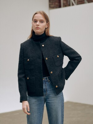 20FN tweed crop jacket
