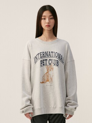 PET CLUB SWEATSHIRT, GREY