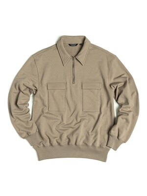 SCOUT PULLOVER SWEAT / KHAKI BROWN