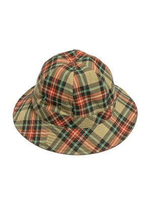 BUCKET HAT / BEIGE MULTI CHECK