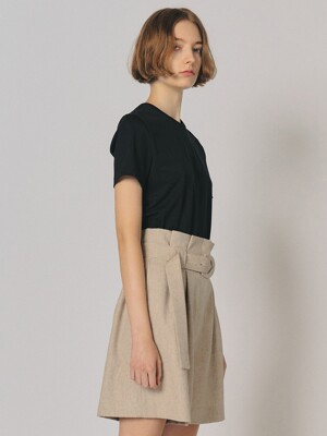 POINT BELTED SHORTS [SAND]