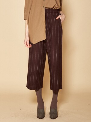 Stripe pants_BROWN