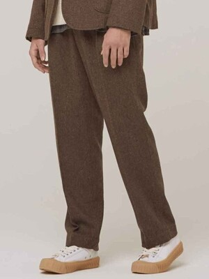 Millspaugh One Tuck Wool Pants Brown