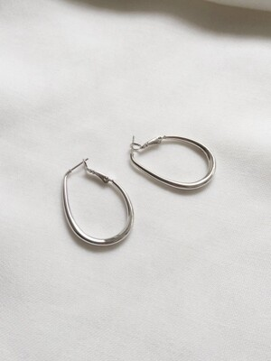 feminine ring earrings (2colors)