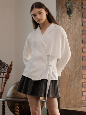 TRENCH BLOUSE_WHITE