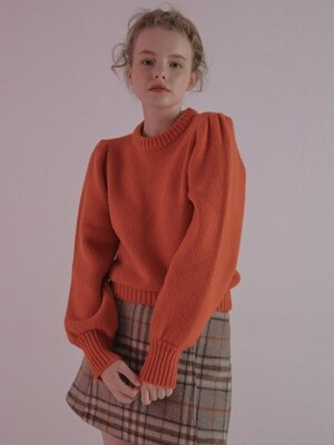mgmg shirring knit_orange