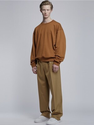 Over Fit Sweatshirts_Camel