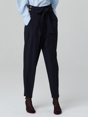 RIBBON TIE CLASSIC PANTS_NAVY