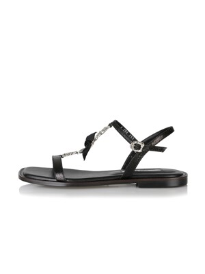 Kiki sandals / YS9-S396 Metalic black