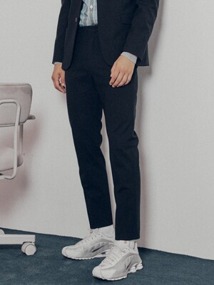 Slim-Tapered Italian Stretch-Wool Suit Trousers