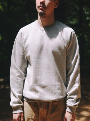 RAGLAN HEAVY SWEAT SHIRT [Gray]
