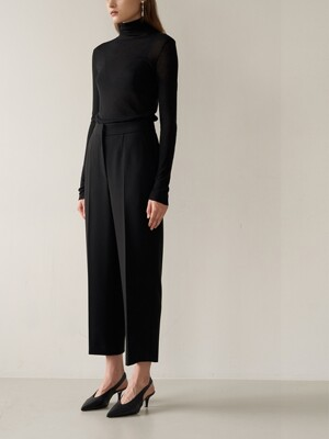 STELLA Semi-Wide Cropped Pants_Black