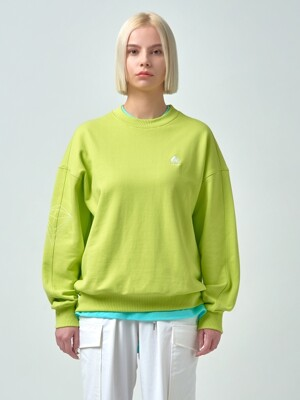 Unisex Embroidered Sweatshirt ACC_02_LIME_MEDIUM