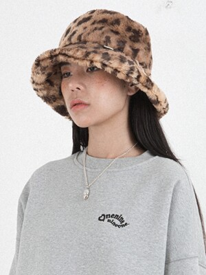 FUR BUCKET HAT_2COLOR