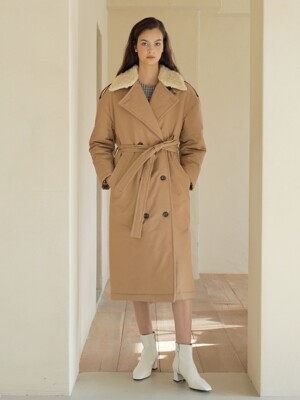 19FW PADDING TRENCH COAT /BEIGE