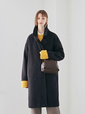 WOOL OVER DOUBLE LONG COAT_BLACK