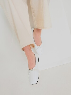 Ballet Toe Ballerinas | White