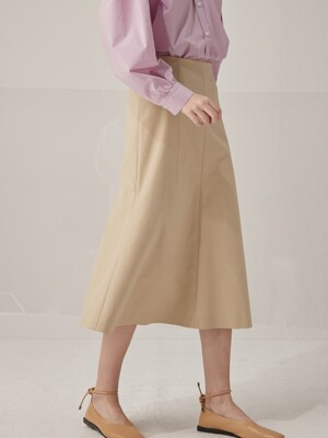 Dart mermaid skirt - Beige