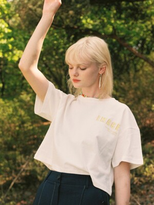 Cropped Short Sleeve Tee in White_VW0ME1550