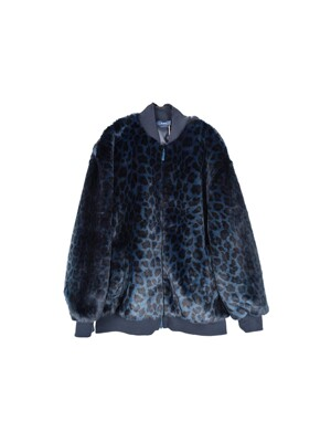 19FW 블루핏[BLUEFIT EXCLUSIVE]LEOPARD SHORT FAUX FUR JUMPER