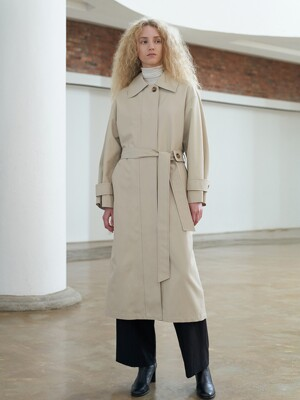 TTF SINGLE TRENCH COAT 2COLOR