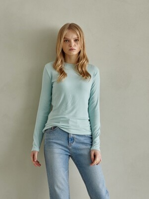 UNIQUE ROUND LONG SLEEVES_MINT