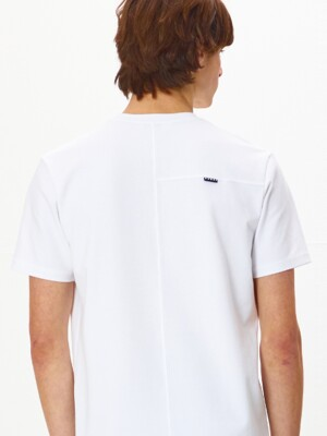 M Back Point Short Sleeve Tshirts_OFF WHITE (HMD1)