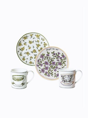 Heritage Daisy Chain & forget me not Dessert SET