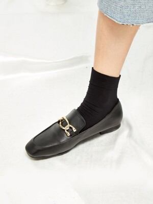 Square Toe Point Loafer - MD18FW1019 Black