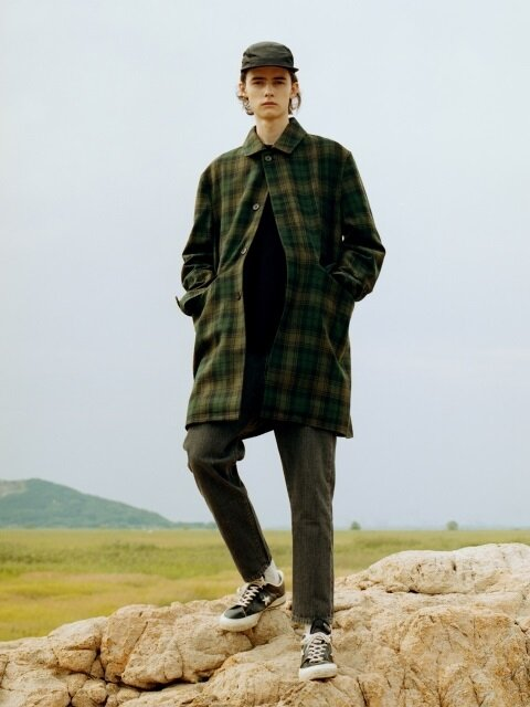 EASY BALMACAAN COAT (CHECK)