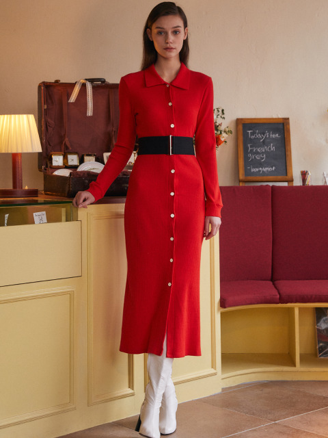 AE LONG CARDIGAN(RED)