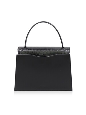 RUA BAG CROCO BLACK