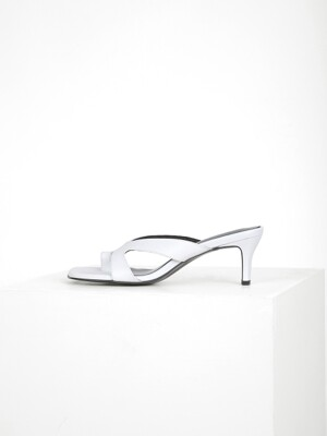 CUT OUT STRAP MULE - WHITE
