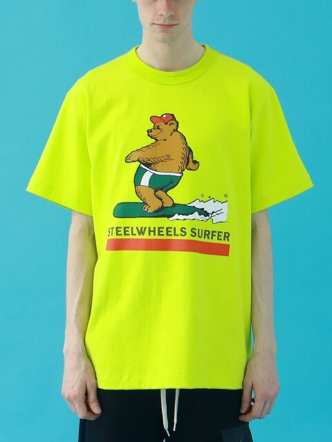 SURF BEAR2 T SHIRT (LIME)