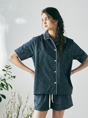 [W] Marilyn Short Sleeve PJ Set Cosmos