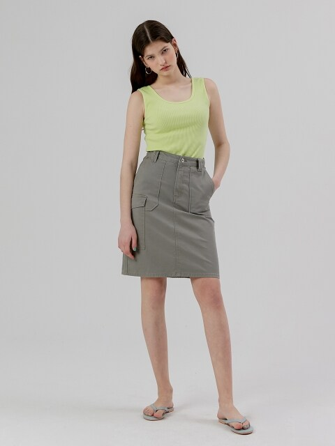 Pocket Skirt [Khaki]
