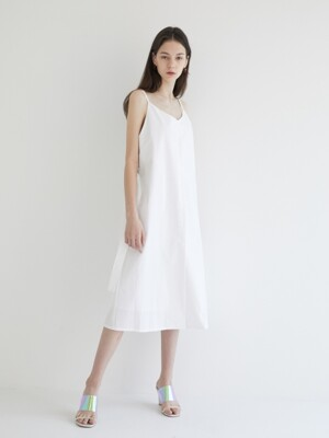 19' SUMMER_White Simple Slip Dress