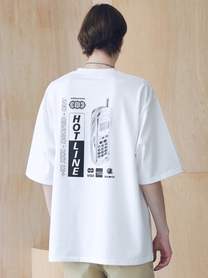 HOT-LINE OVERSIZED T-SHIRTS MSNTS008-WT