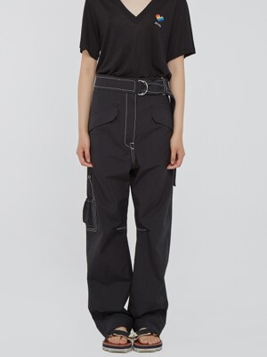 Belted High-Rise Utility Pants
