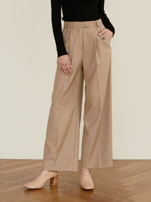 monts 964 button pocket pants (beige)