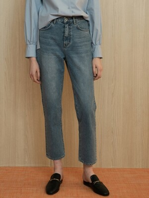 comos'224 crop blue denim