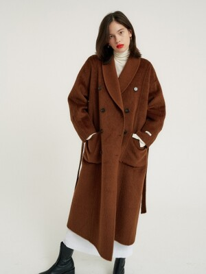 Alpaca double long coat