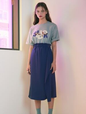 20SS 1ST MERMAID JERSEY SKIRT_GREEN