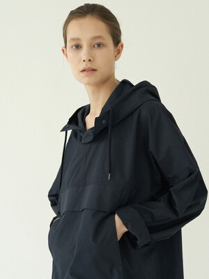 hoody pocket onepiece (navy)