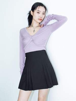 Pleats skirt 2 (black)