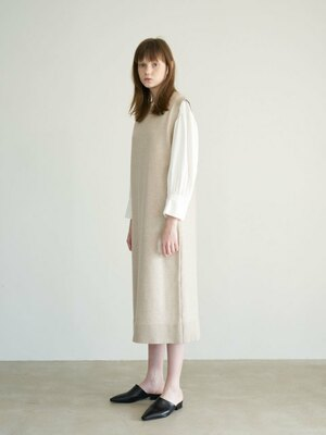20' Winter_Oatmeal Knit Long Dress