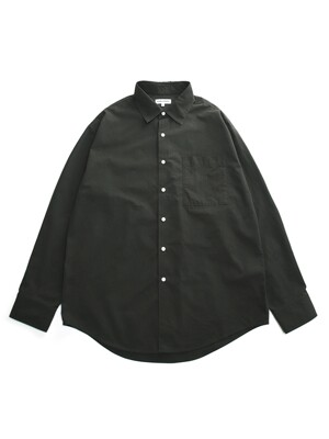 FW20 RELAX 1-POCKET SHIRT(LONG)_KHAKI GREY